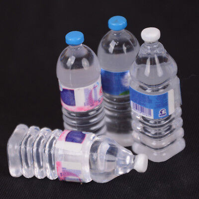 2pcs Bottle Water Drinking Miniature DollHouse 1:12 Accessory Collection DecNM V