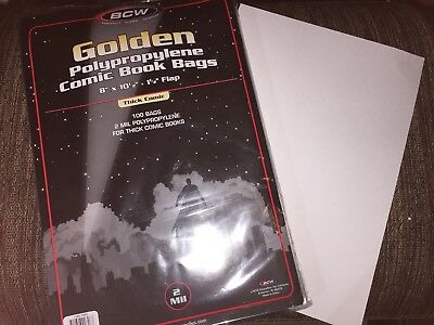 Sale 40 Set BCW Golden Age Comic Book Board & Bags Sleeves 2 mil 8x10.5 Archival