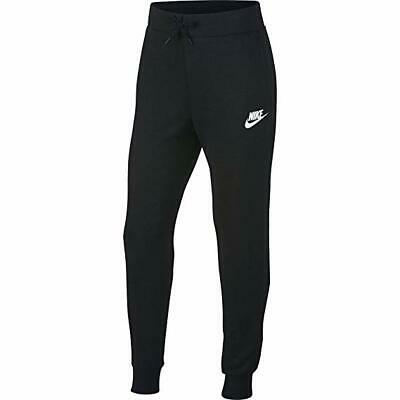 Girls Nike Tracksuit Bottoms, Black, Slim Fit, Size Xl