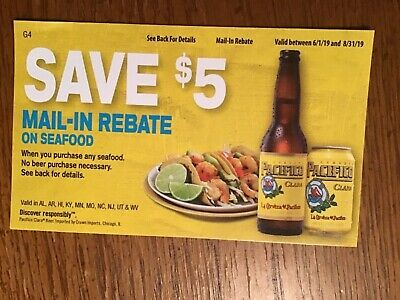 $5 00 REBATE FORM Seafood NBPR No Beer Purchase Required PAC1904
