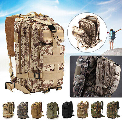 30L 3P Military Rucksacks Tactical Backpack Camping Hiking Travel Outdoor Bag