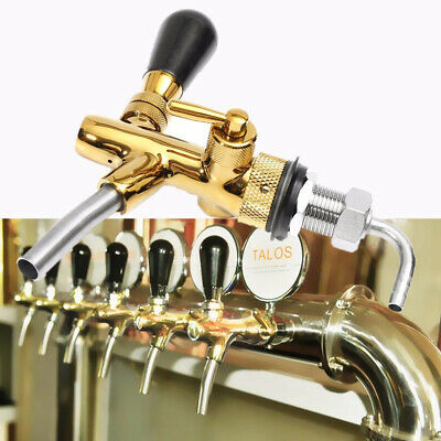 Home Beer Faucet G5/8 Shank Adjustable Flow Controller Stainless Steel Chrome