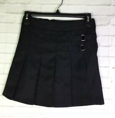 French Toast Girls Size 8 Black School Uniform Pleated Skirt Skort With Shorts