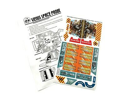 SIX MILLION DOLLAR MAN Venus Space Probe STICKERS CUSTOM REPLACEMENTS for Kenner