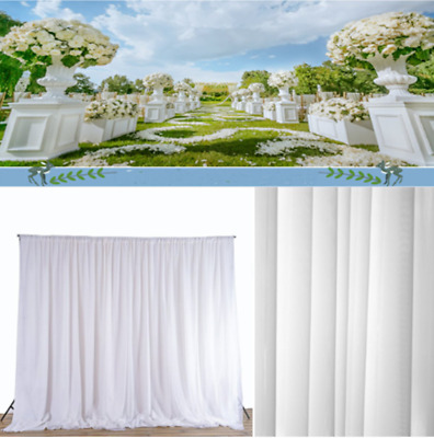 Wedding Party Stage Backdrop Curtain Drape Sheer Satin Curtain Photo Background