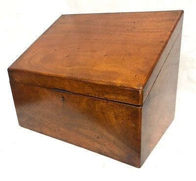 Antique Victorian Mahogany Stationary Box