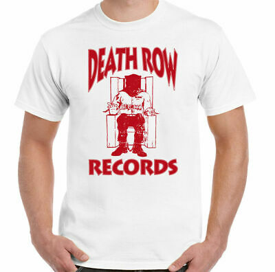 Death Row Records T-shirt  Mens Hip Hop Tee Dr. Dre Tupac 2Pac red official