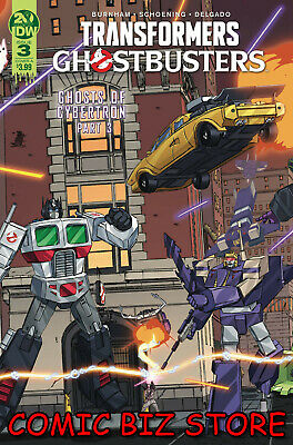 Transformers Ghostbusters #3 (2019) 1St Printing Shoening Main Over A Idw