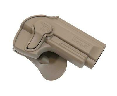 Amomax Retention QR Belt Holster M9 FDE Coyote R/H Airsoft #T92G2F Green Gas
