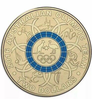 2016 Olympic $2 Coin Australian Two Dollars ## BLUE CHOICE Uncirculated Unc