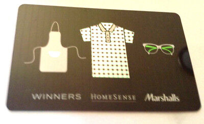 Winners Marshalls STYLE GIFT CARD FROM CANADA BILINGUAL NO VALUE RECHARGEABLE !