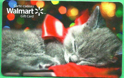Walmart Canada New 2016 Cat Christmas Gift Card Bilingual Rechargeable