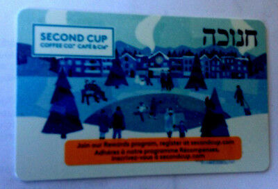 SECOND CUP COFFE SHOP CANADA COLLECTIBLE Gift Card CHINESE NEW YEAR No Value