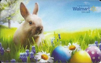 Walmart Canada EASTER GIFT CARD FROM CANADA BILINGUAL NO VAL !RECHARGEABLE