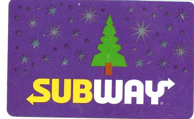 Subway Canada Purple Gift Card Christmas Tree No Value Holiday Rechargeable