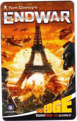 GAME STOP Limited Edition Gift Card ENDWAR New No Value eiffel tower paris