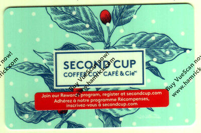SECOND CUP COFFE SHOP COLLECTIBLE HOLIDAY Gift Card New No Value Bilingual