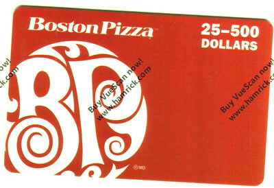 BOSTON PIZZA Gift Card 0517 COLLECTIBLE NO VALUE RECHARGEABLE -- 0-- BALANCE