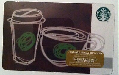 New Starbucks 2016 Cups Holiday Gift Card Rechargeable Bilingual ! Nice!
