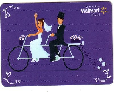 Walmart Wedding COLLECTIBLE Gift Card Purple Bilingual RECHARGEABLE No Value