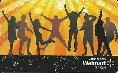 Walmart Canada DANCERS GIFT CARD FROM CANADA BILINGUAL NO VALUE !!