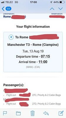 Return Flights To Rome (From Manchester)