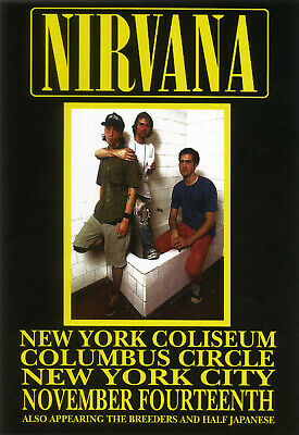 NIRVANA VINTAGE MUSIC CONCERT Poster   A4 A3 & A3+ Sizes Laminated   HD Print  