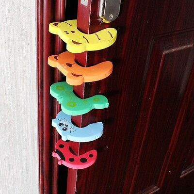 Hot 4Pcs Kid Finger Protector Door Stopper Safety Lock Jammers Pinch Guard Baby
