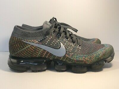 Nike Air Vapormax Flyknit size 9 Grey Multicolor
