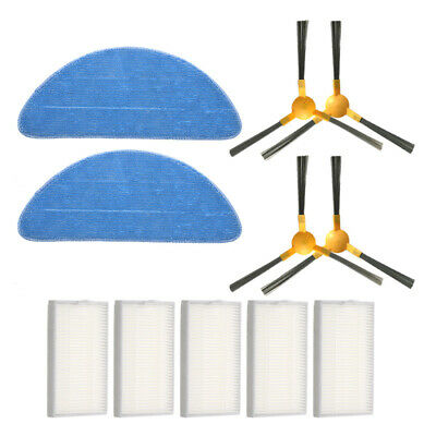 Side Brush Filters Mop Cloths Set For Proscenic 800T Robot Vacuum Cleaner Parts