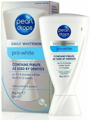 PEARL DROPS DAILY WHITENING PRO-WHITE TOOTHPASTE CONTAINS PERLITE 50ml