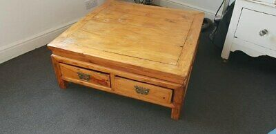 Antique Coffee Table with Drawers