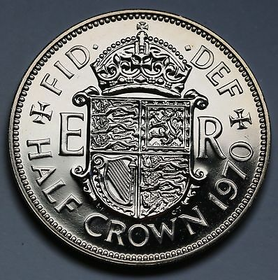 1970 PROOF HALFCROWN BUNC Never issued for circulation SCARCE