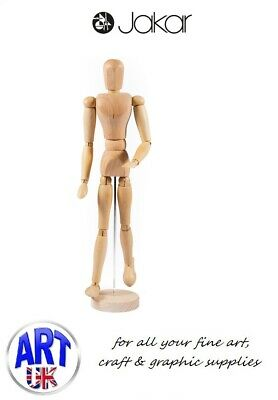 "Jakar Artists Wooden Lay Figure Drawing Aid Male Manikin 16"" - 9008"