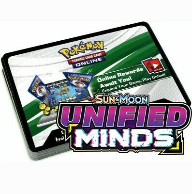 15x Sun And Moon Unified Minds Pokemon TCGO PTCGO TCG Online Codes Sent Fast