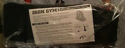 Iron gym 2 Ab straps  pro fit abdominal core body exercise padded fitness