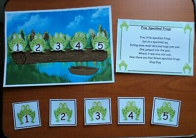 Eyfs 5 Speckled Frogs Nursery Rhyme Teaching Resource Display Sen Childminder
