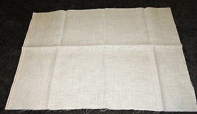 Ecru Fine Linen Rectangle Piece To Cross Stitch Embroider 28 Count 48 x 70cm New
