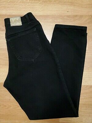 Vintage Black Lee High Waisted Tapered Mom Jeans Women's Size 10 fits like 28