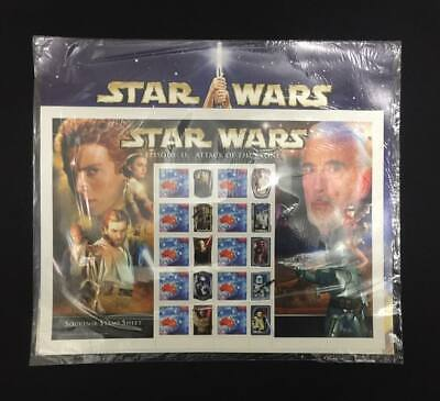 Australia 2002 Star Wars Attack of The Clones Stamp Sheet Mint  Unopened