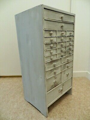 Vintage Watchmakers Cabinet Collectors Drawers Tool Chest Box Industrial