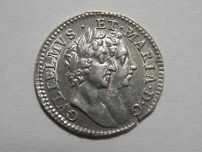 1689 William and Mary Maundy 4d coin
