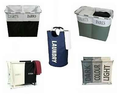 New Oxford Fabric Collapsible Laundry Cloth Hamper Basket Storage