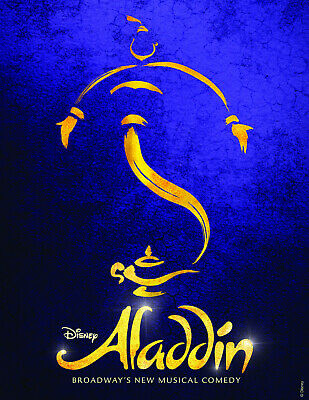 ALADDIN MUSICAL Poster | A4 A3 & A3+ Sizes Laminated | HD Print | DISNEY MOVIE