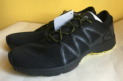 SALOMON MENS CROSSAMPHIBIAN Swift Black Running Shoes Size 12 NWOB