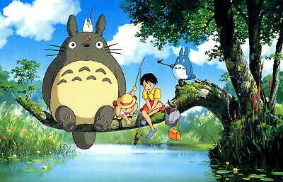 MY NEIGHBOR TOTORO Poster | A4 A3 & A3+ Sizes Laminated HD Print | STUDIO GHIBLI