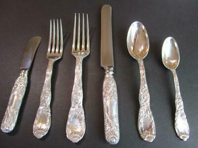 Chrysanthemum By Tiffany & Co. Sterling Silver Flatware 6P Dinner Set*Excl******