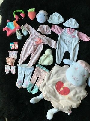 🍼🍼🍼🍼Baby Annabell Dolls, Shoes,Socks ,Clothes ,Outfits,18 Items,Bundle Zapf