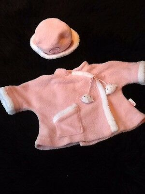 """Baby Annabell Dolls Clothes,Pink Coat And Hat Set ,Outfit .,,18""""Zapf"""