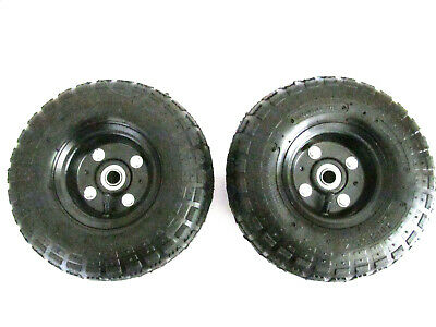 """Solution #24 Surface Cleaner Replacement  PAIR of 10"""" Pneumatic Wheel And Tire"""